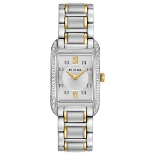 Bulova Women's 98R227 Diamond Accent Two-tone Stainless Bracelet Watch