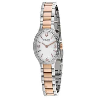 Bulova Women's 98R190 Diamond Gallery Two-tone Stainless Bracelet Watch|https://ak1.ostkcdn.com/images/products/18260789/P24397355.jpg?impolicy=medium