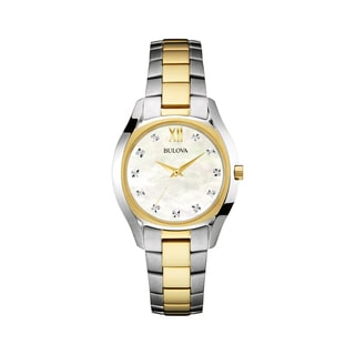 Bulova Women's 98P145 Two-tone Stainess Diamond Dial Bracelet Watch