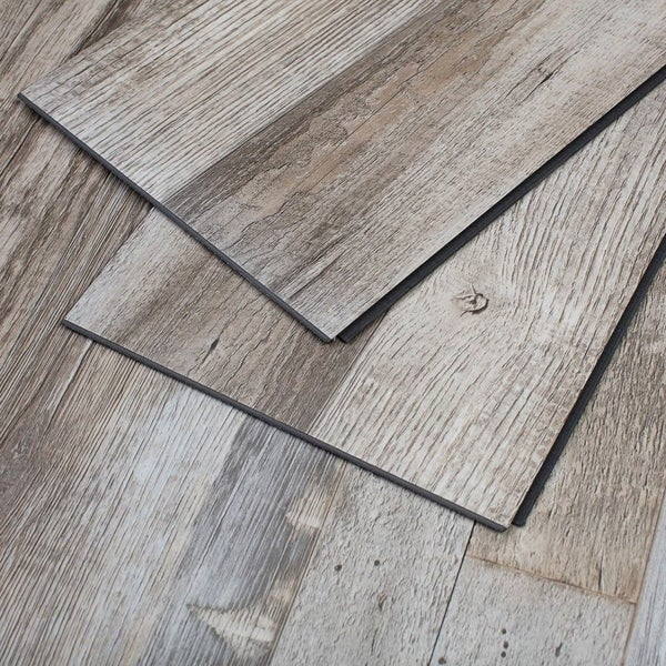 Vinyl Flooring Wood Reviews: Shop Maykke 23 Sq Ft Restored Wood Vinyl Interlocking