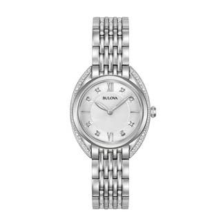 Bulova Women's 96R212 Stainless Diamonds Accent Bracelet Watch|https://ak1.ostkcdn.com/images/products/18260965/P24397369.jpg?impolicy=medium