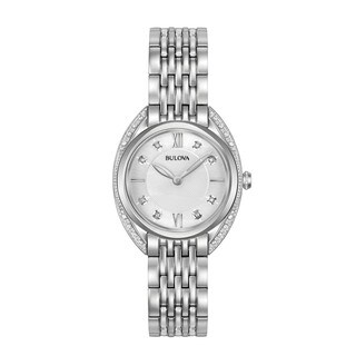 Bulova Women's 96R212 Stainless Diamonds Accent Bracelet Watch