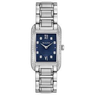 Bulova Women's 96R211 Stainless Diamond Blue Dial Bracelet Watch https://ak1.ostkcdn.com/images/products/18260989/P24397370.jpg?impolicy=medium