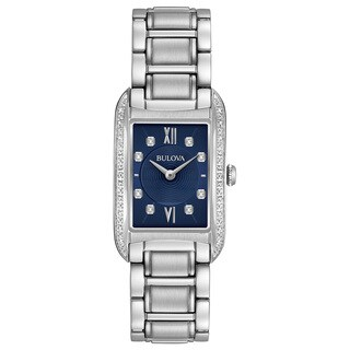 Bulova Women's 96R211 Stainless Diamond Blue Dial Bracelet Watch