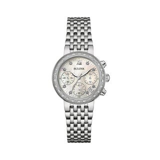 Bulova Women's 96R204 Diamond Stainless Chronograph Bracelet Watch