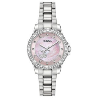 Bulova Women's 96L237 Stainless Crystal Heart Accent Bracelet Watch