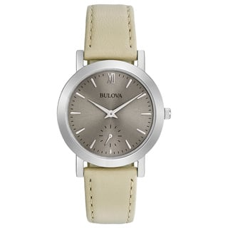 Bulova Women's 96L233 Classic Stainless Leather Strap Watch|https://ak1.ostkcdn.com/images/products/18261132/P24397549.jpg?impolicy=medium