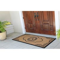 "A1HC X-Large Abrilina 36"" X 72"" Entry Coir Double Doormat Monogrammed"