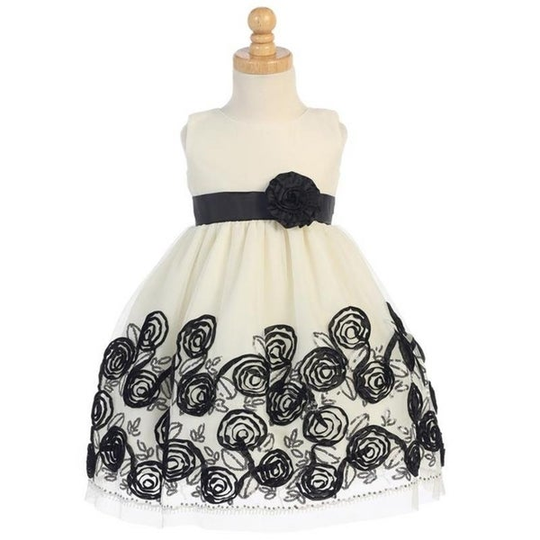 11ce1ec04011e Girls tulle with satin ribbon Christmas Holiday Dress