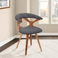 Danube Mid-Century Dining Chair in Walnut with Charcoal Fabric