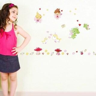 Fairies Sticker Set more than 35 stickers 8.3 x 11.7 Wall Vinyl