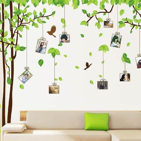 Large Picture Photo Frame Tree Wall Art Decals, Living Room Wall Vinyl