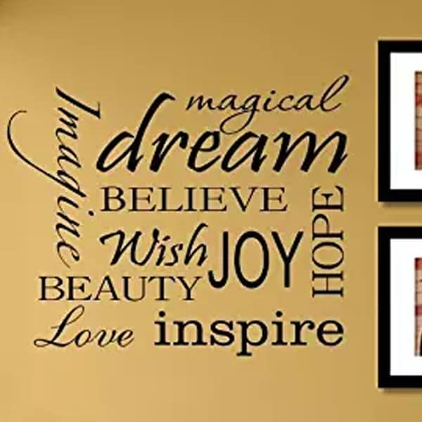 Shop Magical dream imagine believe wish joy hope Vinyl Wall 22 x 18 ...