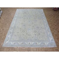"Hand Knotted Beige Turkish Oushak with Wool Oriental Rug - 10'2"" x 14'3"""