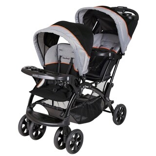 Baby Trend Sit n Stand Double Stroller, Millenium Orange