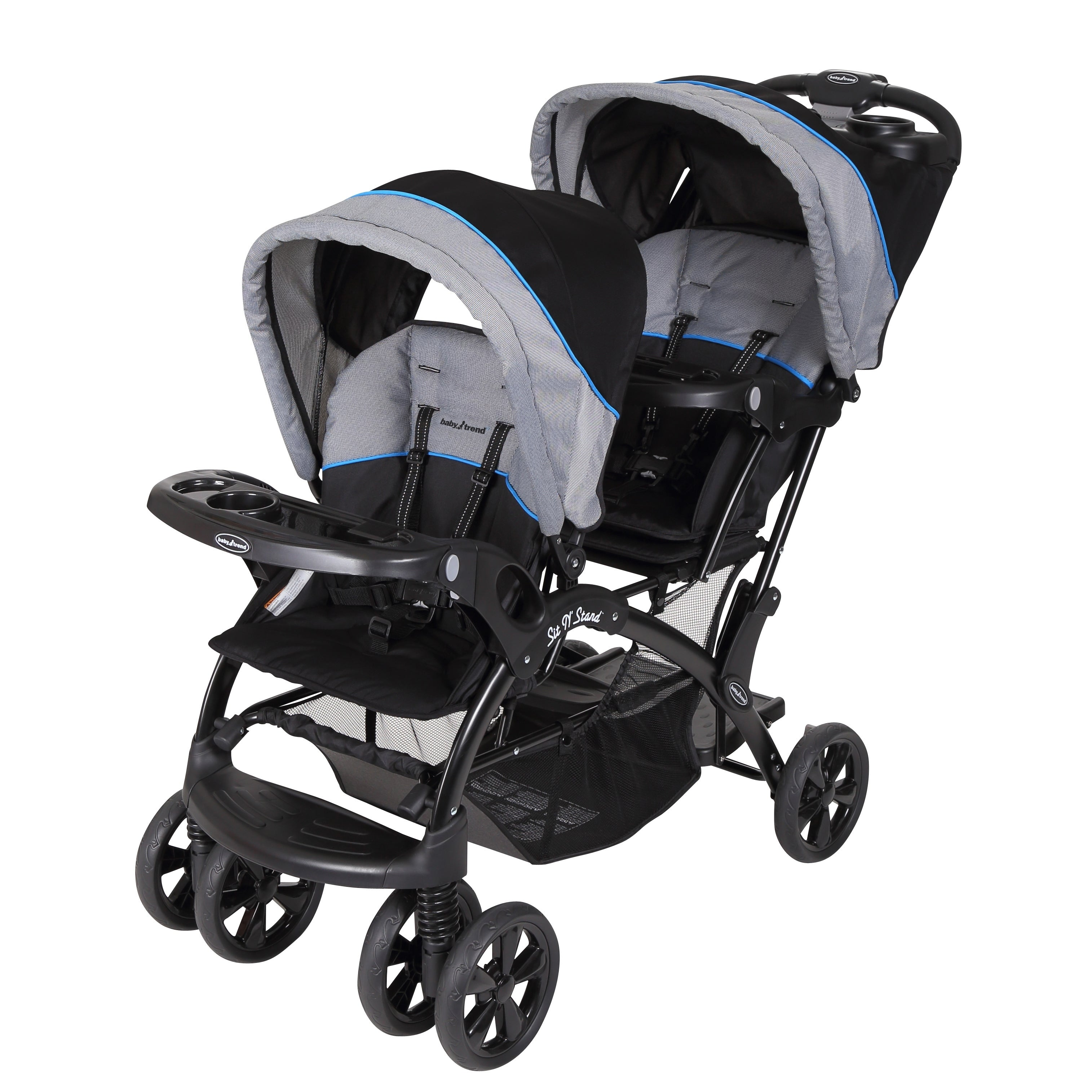 Baby Trend Sit n Stand Double Stroller, Millenium Blue, B...