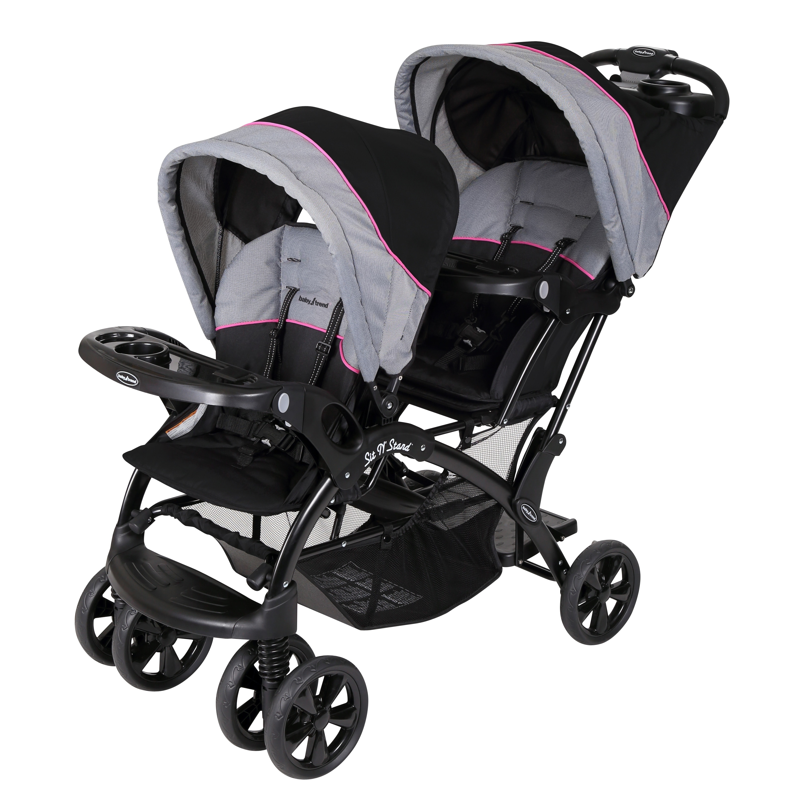 Baby Trend Sit n Stand Double Stroller, Millenium Pink, B...