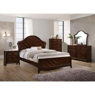 Wenge Brown Wood Queen-size Bed