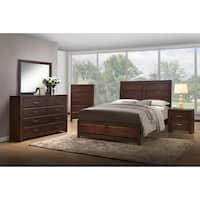 B2187-QHF-QR Walnut Wood Queen Size Bed