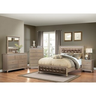 Hollywood Champagne Wood King-size Bed