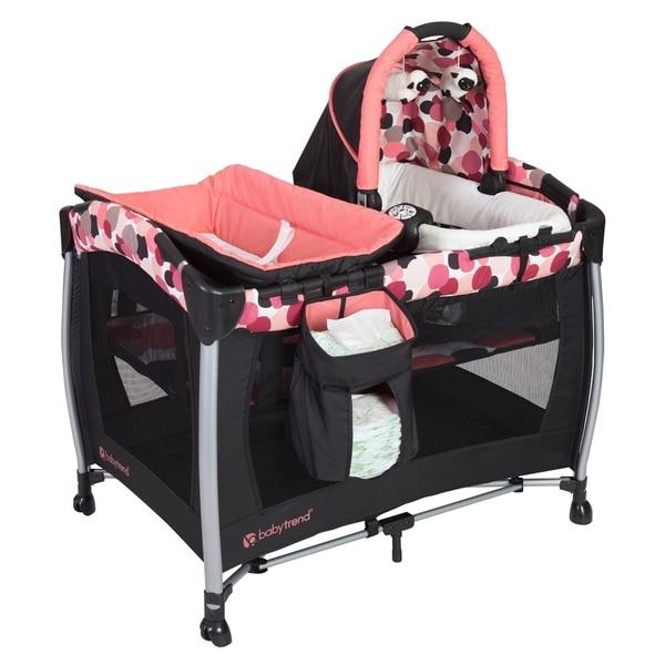 Shop Baby Trend Resort Elite Nursery Center Dotty Free