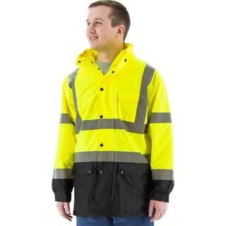 Majestic Glove 75-1305/M Rain Jacket, Hi-Vis, Class 3, Yellow