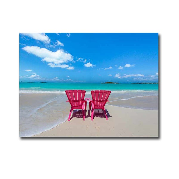 Artistic Home Gallery Donald Paulson X27 Pink Beach Chairs