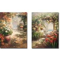 Cobblestone Cove I and II by Roberto Lombardi 2-piece Gallery-Wrapped Canvas Giclee Art Set