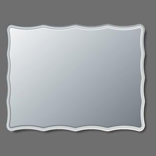 Eviva Curvy 31-inch Frameless Assembled Bathroom Mirror