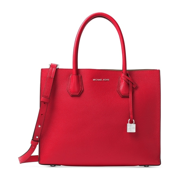 dbd75b30bbb7 Shop MICHAEL Michael Kors Mercer Large Convertible Tote Bright Red ...