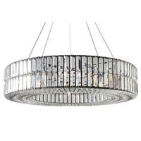 The Monroe Round Clear Crystal Chandelier, Two Tier