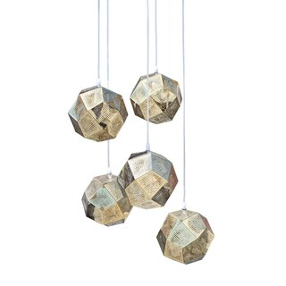 Orbit 5 Light Mini Globe Chandelier