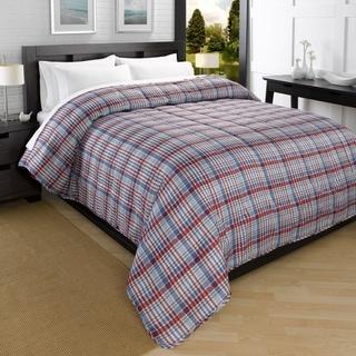 Campus Plaid Printed Down Alternative Ultra Lightweight Comforter