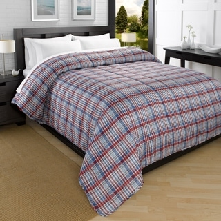 Campus Plaid Printed Down Alternative Comforter