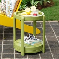 Cambridge Casual Alston Painted Side Table & Stool - Green