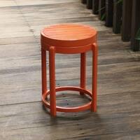 Cambridge Casual Alston Painted Side Table & Stool - Orange