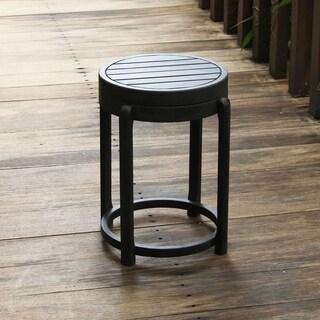 Alston Painted Side Table / Stool, Black