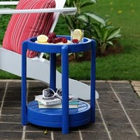 Cambridge Casual Alston Painted Side Table & Stool - Blue