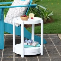 Cambridge Casual Alston Painted Side Table & Stool - White