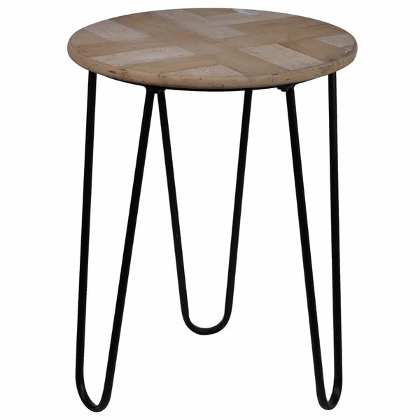 Transitional Prescott Round Side Table