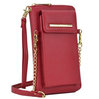 Dasein All-In-One Crossbody Wallet with Phone Case and Detachable Chain Strap (Option: Red)
