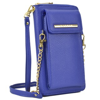 Dasein All-In-One Crossbody Wallet with Phone Case and Detachable Chain Strap (Option: Blue)
