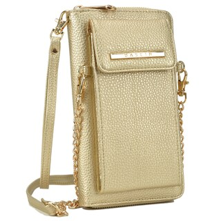 Dasein All-In-One Crossbody Wallet with Phone Case and Detachable Chain Strap