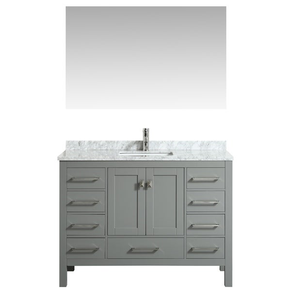 "Eviva London 48"" White bathroom vanity"