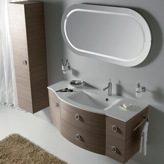 Eviva Romina White and Oak Finish 52-inch Wenge Bathroom Vanity