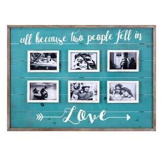Love Collage Wall Frame - Blue - Benzara