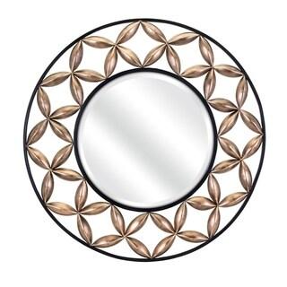 Benzara Gradon Black Goldtone Metal Mirror