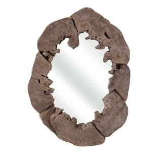 Montana Wall Mirror, Brown - Benzara - N/A