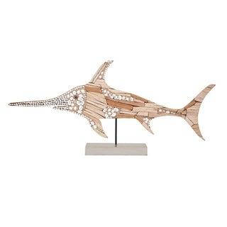 Staunch Hasani Mosaic Swordfish Statuary - Benzara