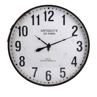 Chestnut Round Wall Clock - Benzara